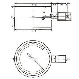 微圧計 マツバ計器 AU G3/8 75x50 monotaro