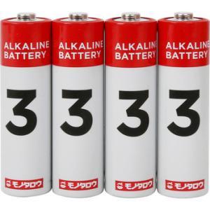 アルカリ乾電池 モノタロウ 単3 単3(40本入)...