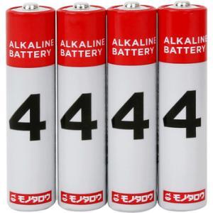 アルカリ乾電池 モノタロウ 単4 単4(4本入)...