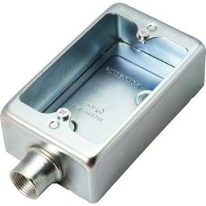 ねじ付露出スイッチボックス(1コ用1方出) パナソニック(Panasonic) DF30191K|monotaro