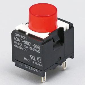 小形押ボタンスイッチ(丸形)(小形角胴) A3A オムロン(omron) A3AT-90K1-00R...