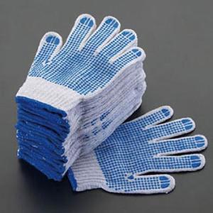 [M] 手袋(滑り止め付・青/12双) エスコ EA354A-46|monotaro