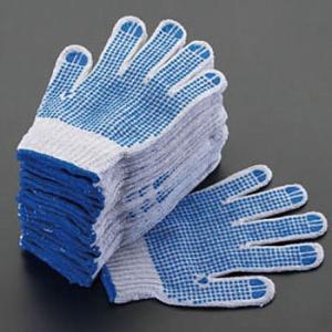 [L] 手 袋(滑り止め付・青/12双) エスコ EA354A-47|monotaro