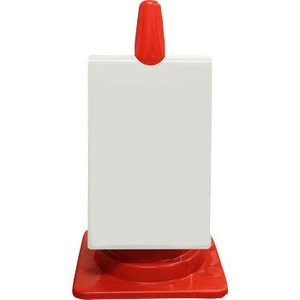 カラーコーン用ピクトサイン(無反射 両面タイプ) 安全興業 CS-000W 白無地 ホワイトボード|monotaro