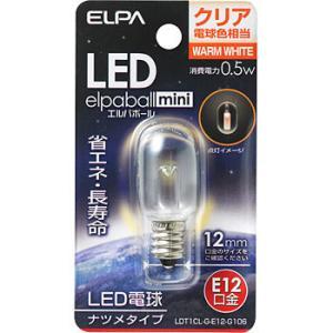 LED電球 ナツメ球タイプ ELPA (朝日電器) LDT1CL-G-E12-G106|monotaro