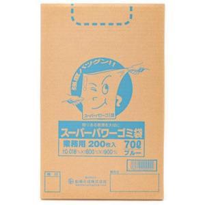 スーパーパワーゴミ袋 船場化成 9000090 70L/青