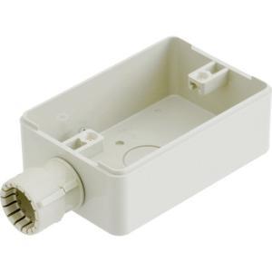 露出スイッチボックス(防水コンセント用)(コネクタ付) 未来工業 PVR16-BC1GJ|monotaro