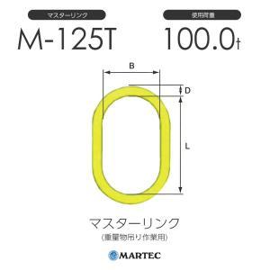マーテック製 M マスターリンク 重量物の吊り作業用金具です。 GA/Gカップリングでチェーンと接続...