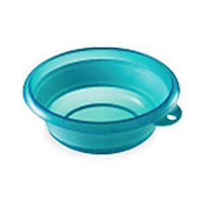 伊勢藤 折りたためる 洗面器 ソフト湯おけ 2.5L I-522 ブルー