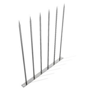 忍び返し φ10×500 爪なし ステンレス製 高さ500mm 取付ボルト付き|monpi-hikido-2016
