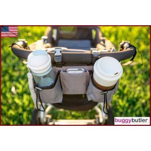 バギーギア バギーバトラー・リミテッドエディション スノー・オックスフォード Buggygear ベビーカーオーガナイザー 保冷保温 ショルダーバッグ|monreve