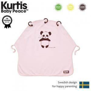 カーティスKurtis ベイビーピース プラムカーテン パンダ・ピンク お昼寝カーテン 日よけ 雨よけ panda pink|monreve