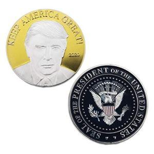 ドナルド・トランプ大統領コイン2020、シルバーゴールドメッキチャレンジコイン、Keep America、素晴らしい収集価値のあるギフト。 並行輸入品|mons