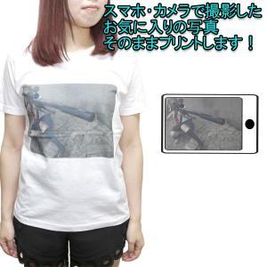 オリジナルTシャツ 白地に写真プリント 男女兼用 半袖4.0オンス お気に入りの写真をプリント 1PRINT-003-580601|monsterkids