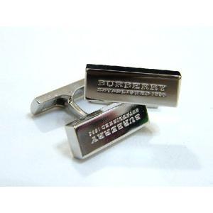 バーバリー BURBERRY 高級 カフス ロゴ刻印 シルバー 箱付 正規品 新品 送料無料 BB026 monstyle