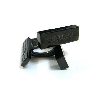 バーバリー BURBERRY カフス ロゴ刻印 ダークシルバー 箱付 正規品 新品 送料無料 BB027 monstyle