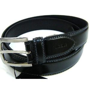 ニコル NICOLE 牛革 レザー ベルト 黒 フリーサイズ 正規品 新品 送料無料 NI002|monstyle