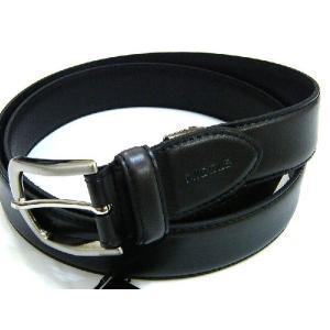 ニコル NICOLE 牛革 レザー ベルト 黒 新品  フリーサイズ 正規品 送料無料 NI003|monstyle