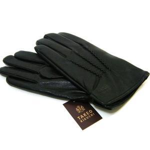 タケオキクチ TAKEOKIKUCHI 手袋 グローブ 羊革 ラムレザー  黒 24cm 正規品 新品 送料無料 TK001|monstyle
