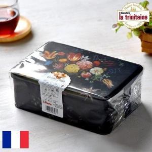 ラ・トリニテーヌ フラワー缶 ティン缶入り 厚焼きパレット&薄焼きガレット 300g La Trin...