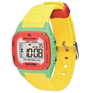 [フリースタイル]Freestyle 腕時計 SHARK CLASSIC デジタル表示 ストップウォッチ・タイマー機能付き 10気圧防水 オレンジ×イエロ...|montaukonline
