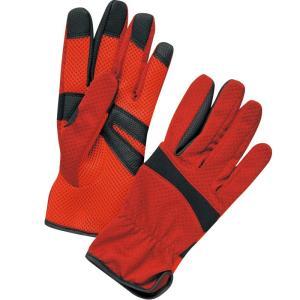 汗を素早く吸収し、拡散、乾燥させる東レ・フィールドセンサー採用で快適 指先と手のひらをグリップ力の高...