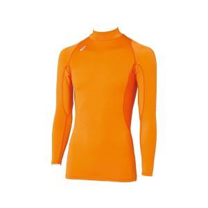 [アシックス]トレーニングウエア ハイネック長袖シャツ XA3809 [メンズ] メンズ オレンジ ...