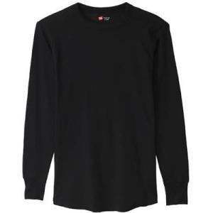 HM4G501 THERMAL クルーネックナガソデ  カラー:090 [ ブラック ] サイズ:M...