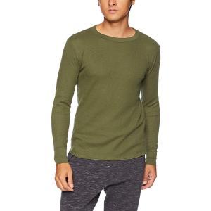 Tシャツ サーマル 長袖 クルーネック HM4-G501 メンズ  カラー:カーキ サイズ:M  コ...