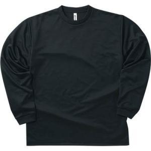 (グリマー)glimmer 4.4オンス ドライ長袖Tシャツ 00304-ALT 005 ブラック ...
