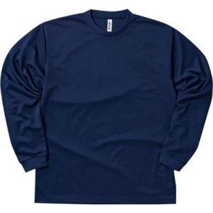 (グリマー)glimmer 4.4オンス ドライ長袖Tシャツ 00304-ALT 031 ネイビー ...