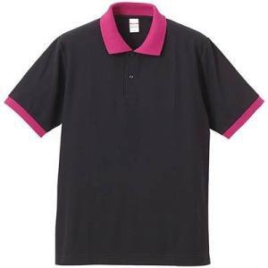 品名  5.3OZポロシャツ(CVC) カラー:2065 [ ブラック/トロピカル ] サイズ:M ...