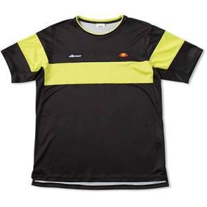 (エレッセ)ellesse テニスウェア TEAMクルー半袖シャツ ETS07001 [メンズ] ETS07001 K ブラック S montaukonline