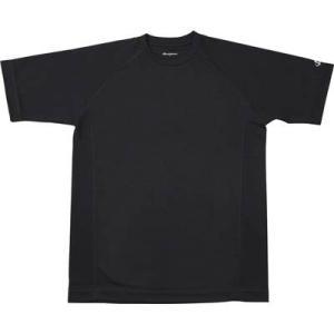 ファイテン(phiten) RAKUシャツ SPORTS(吸汗速乾) 半袖 ブラック M montaukonline