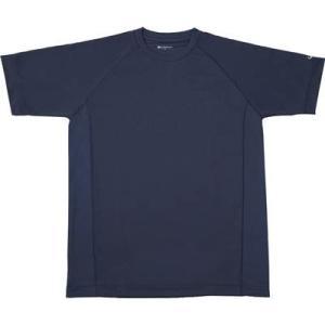 ファイテン(phiten) RAKUシャツ SPORTS(吸汗速乾) 半袖 ネイビー S
