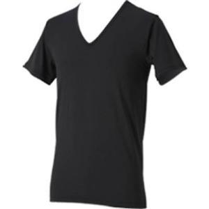 ファイテン(phiten) RAKUシャツ メンズインナー V首半袖 ブラック L 1313JG039105 montaukonline