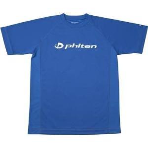 ファイテン(phiten) RAKUシャツ SPORTS 吸汗速乾 半袖 ロゴ入リ ロイヤルブルー(白ロゴ) S|montaukonline