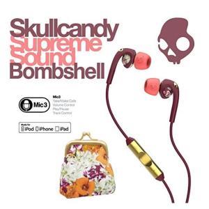 【日本正規品】 Skullcandy スカルキャンディー イヤホン イヤフォン Bombshell ボムシェル Floral/Plum 花柄 フラワー i...|montaukonline