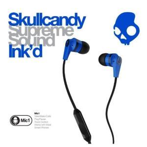 Skullcandy スカルキャンディー イヤホン Ink'd ブルー/ブラック スマートフォン対応マイク付き|montaukonline