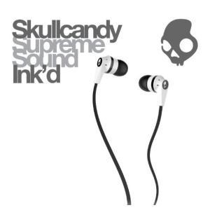 【日本正規品】 Skullcandy スカルキャンディー イヤホン イヤフォン Ink'd WHITE/BLACK/WHITE ホワイト/ブラック/ホワイト|montaukonline
