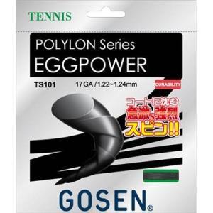 ゴーセン(GOSEN) テニス ストリングス エッグパワー17 ブラック TS101BK