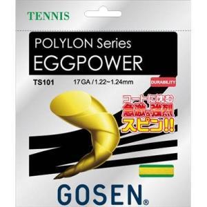 ゴーセン(GOSEN) エッグパワー17 (テニス用) イエロー TS101Y