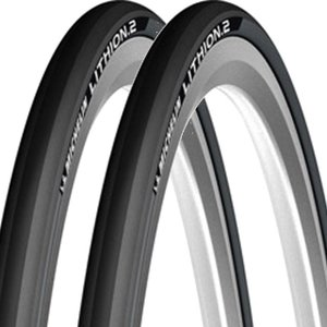 自転車 タイヤ ミシュラン 2本セット リチオン2 700×23C D-GRY