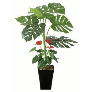 光触媒人工観葉植物 モンステラ&アンスリューム95cm|montbrette