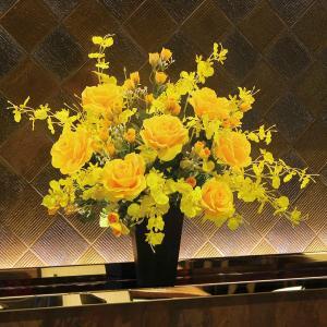 光触媒アートフラワー(造花) 光の楽園 ゴールドエース