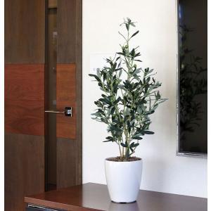 ■人工観葉植物(光触媒加工)光の楽園 オリーブ90cm【商品サイズ:W40×D38×H90cm】は、...