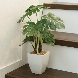 人工観葉植物テーブルタイプ(光触媒加工) モンステラポット