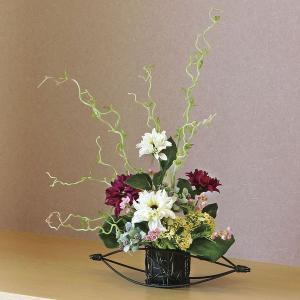 〔和風〕光触媒アートフラワー(造花) 光の楽園 丹頂
