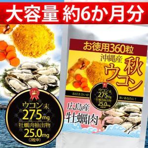 沖縄産秋ウコン&広島産牡蠣肉 360粒 約6か月分 ...