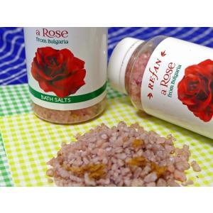 バラの花びら入りバスソルト(ダマスクローズ花弁配合)|montedo
